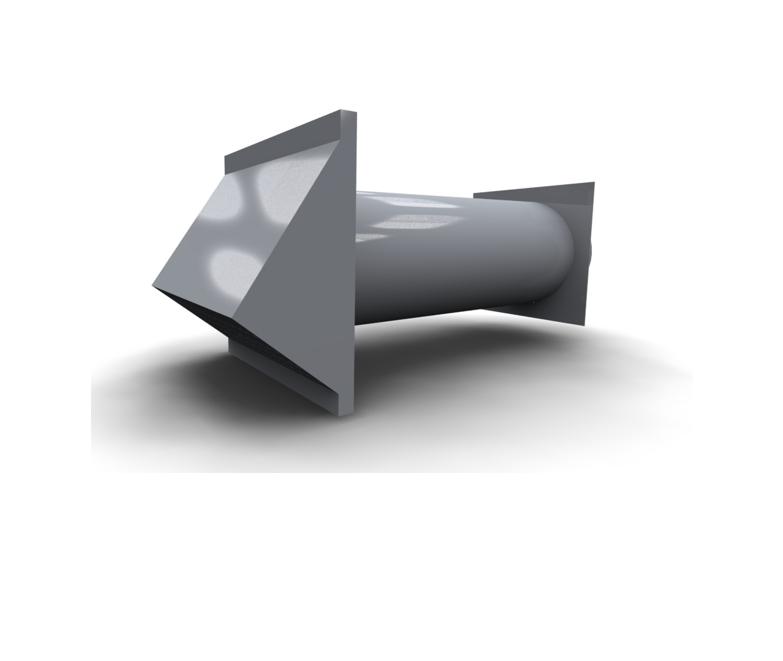 Fasadni element za zajem ali izpust zraka INOX