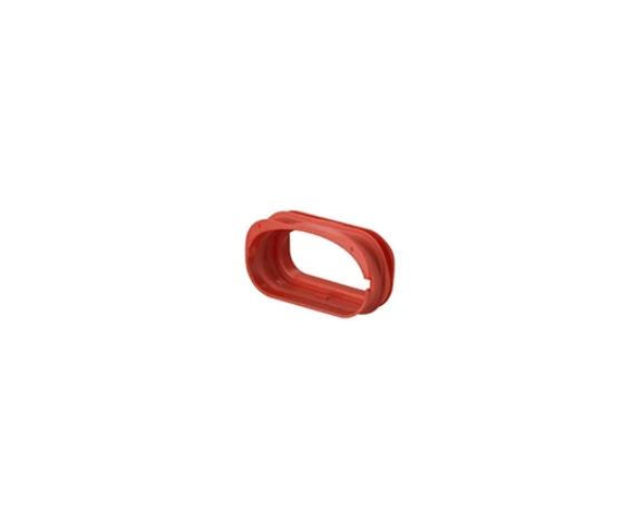 Spojka med priključkom in prezračevalno ovalno cevjo