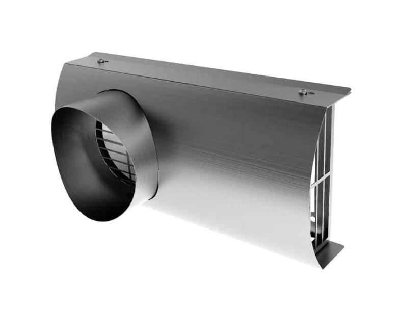 Fasadni element za zajem in izpust zraka 2v1 INOX